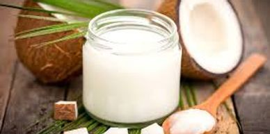 coconut oil with coconut