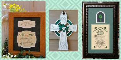 Framed Irish Prayers and Blessings for Home and Office, Gift Giving and St. Patrick's Day