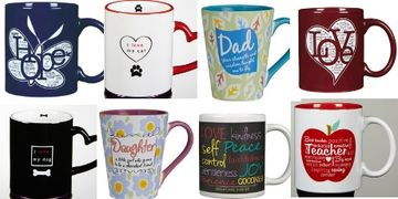 Coffee Mugs and Tea Mugs for daughter, son, mother, father, teacher, pets, weddings and family
