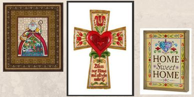 Jim Shore Art and Crosses for gifts and home. Jim Shore Wall Art home sweet home  box art