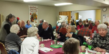 Senior Center members gathered for an event