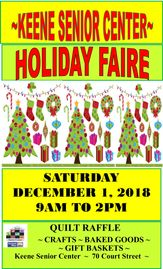 Keene Senior Center Holiday Faire poster.