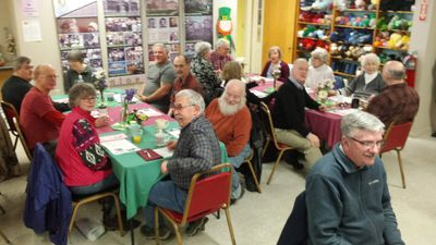 Senior Center members gathering for lunch