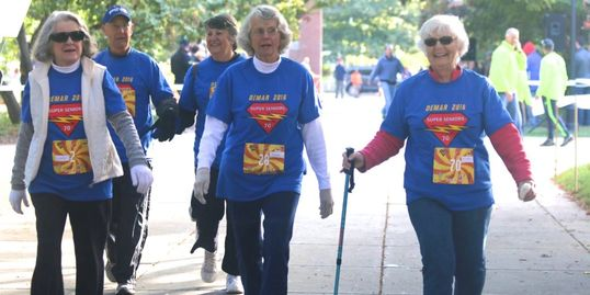 The Keene Senior Center Super Seniors walking