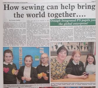 #HeatherMakes #sewasoftie #Globalsewingparty write up in the newspaper