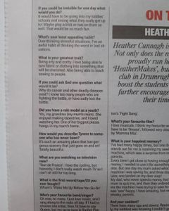 newspaper report on #HeatherMakes