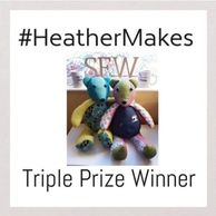 #prizewinner award winning #HeatherMakes #handmade #sewing #blogger HeatherMakes omagh prize Winner