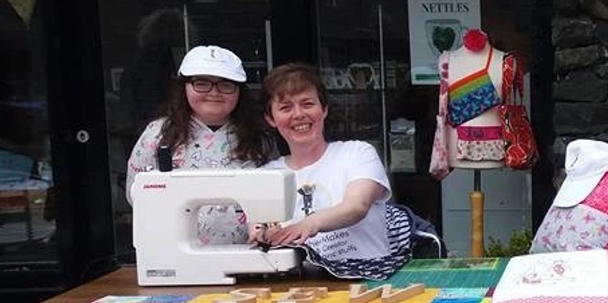Sewing teaching learning #HeatherMakes sewing out doors craft centre An Cregan #sewing #handmade