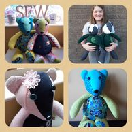 Memory Bears NI, memory bears, handmade, made from loved ones clothing, Omagh, Northern Ireland