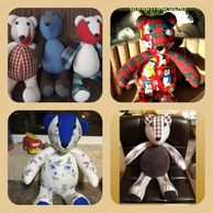 Memory Bears NI, #HeatherMakes, handmade, made from loved ones clothing, Omagh, Northern Ireland