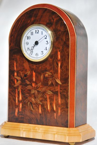 marquetry clock