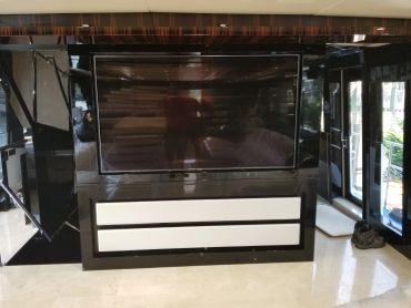 yacht interior tv cabinet