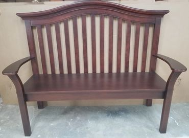 baby crib repurposed into bench