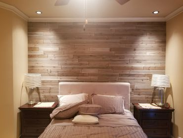 rustic wood accent wall shiplap
