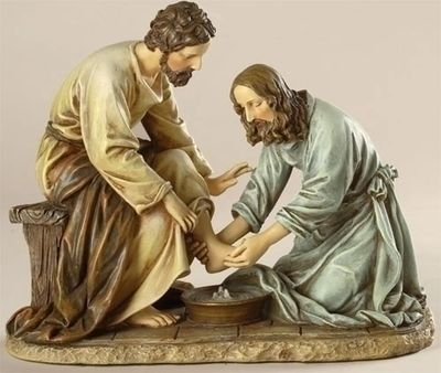 Jesus Washing the Feet of His Apostles - John 13: 1-17