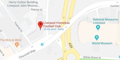 Donate of the Homeless Football Club 151 Dale St, Liverpool L2 2AH