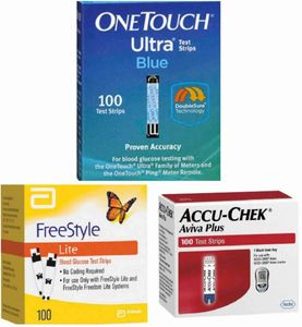 OneTouch, FreeStyle Lite and Accu-Chek Diabetic Test Strips Sealed and Unexpired Boxes