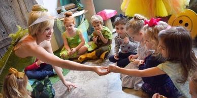 Play games, dance and sing with Tinkerbell. High end Nashville Princess Parties. All Inclusive party