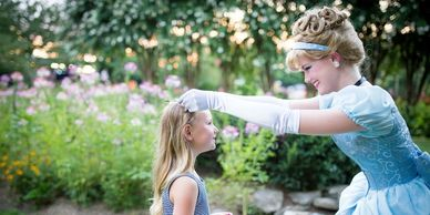 High quality princesses in Nashville for your child's princess party. Cinderella birthday crowning.