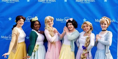 Party Princesses in TN volunteer for Make A Wish children. Belle, Sleeping Beauty, Rapunzel and more