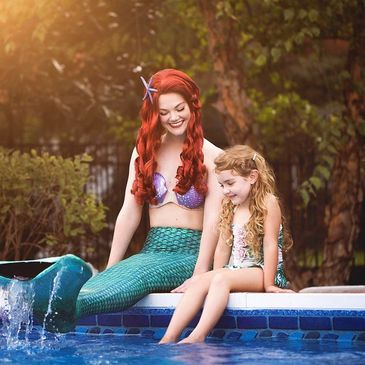 The Little Mermaid loves to entertain kids at birthday parties in Nashville. Pool & Land party fun!