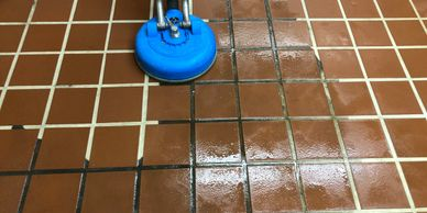 Tiled Floor Cleaned by Perfect Touch Enterprise in Atlanta GA