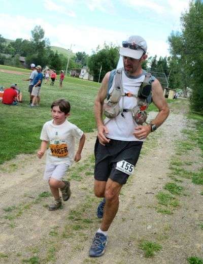 Father with PACER son finishing the 100 mile  race