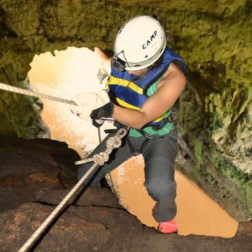 Rappelling, Tanama River Adventures, Eco Tours. Utuado, Puerto Rico. Best Thing to do.