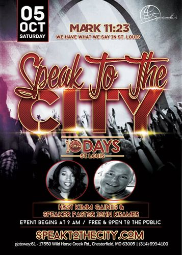 Speak To The City joins with 10 Days St. Louis!
