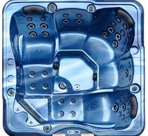 Double massage lounges spa in Ocean Blue USA Aristech Acrylic shell.