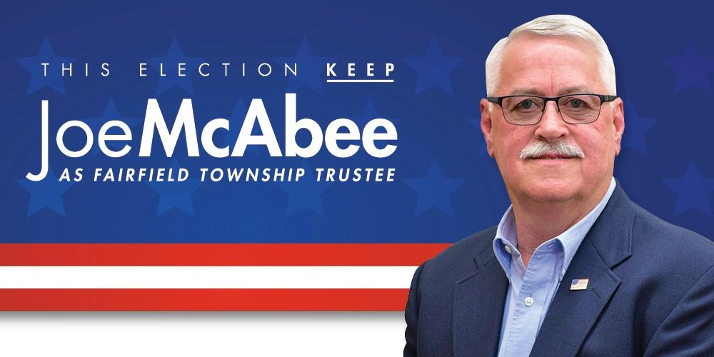 This election keep Joe McAbee as Fairfield Township Trustee. Includes image of Joe McAbee.