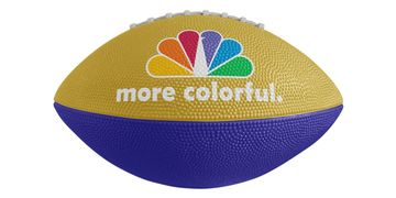 Custom rubber and synthetic leather footballs with custom printed logo.