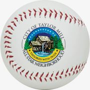 Promotional baseball for display. Same size and weight as an official baseball.