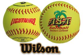 Custom printed softballs. We offer Wilson, Rawlings and optic yellow promotional softballs.
