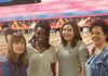 Bowling for a cause! Melody, Angeline, Alex & Tina