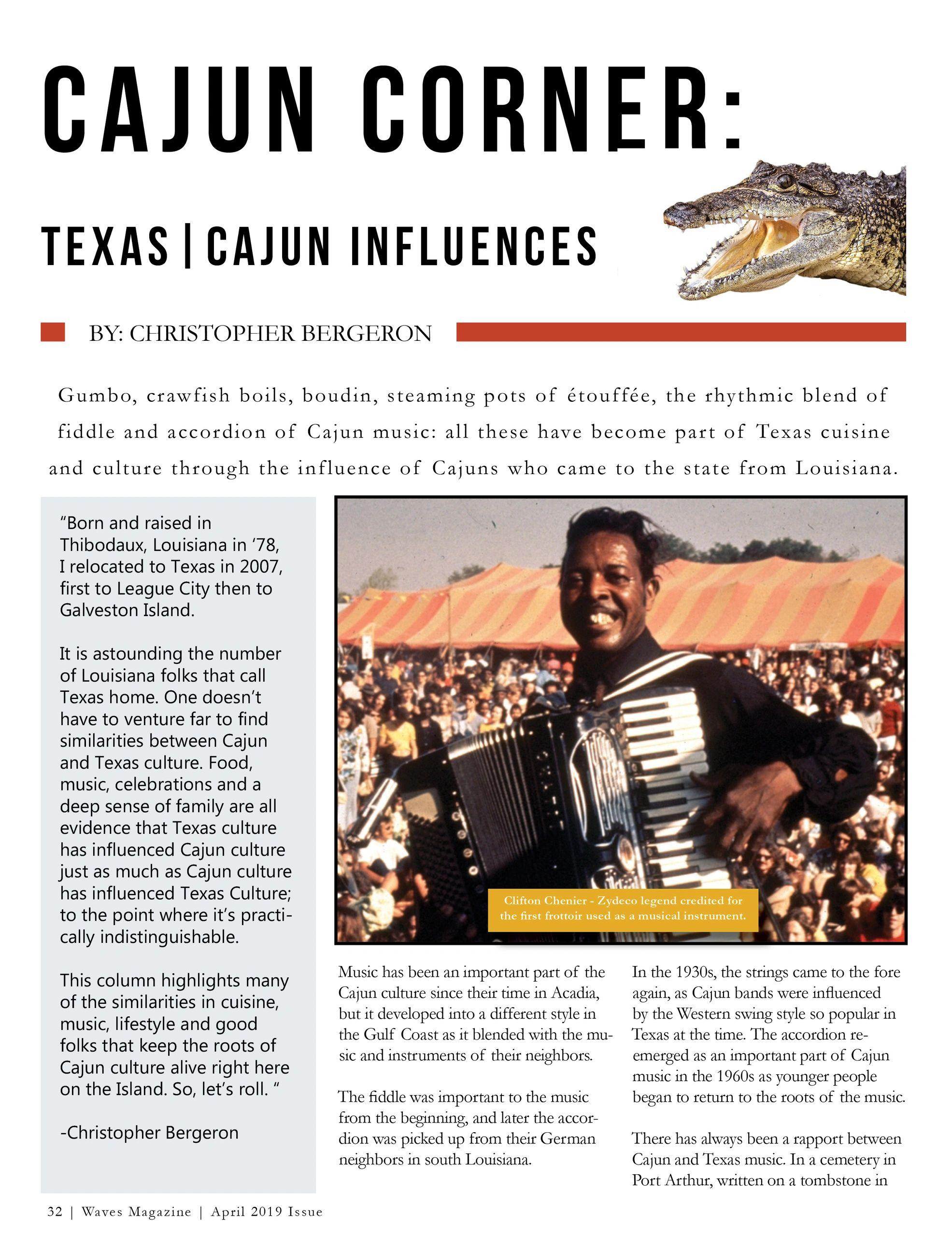 Cajun Corner: Texas| Cajun Influences