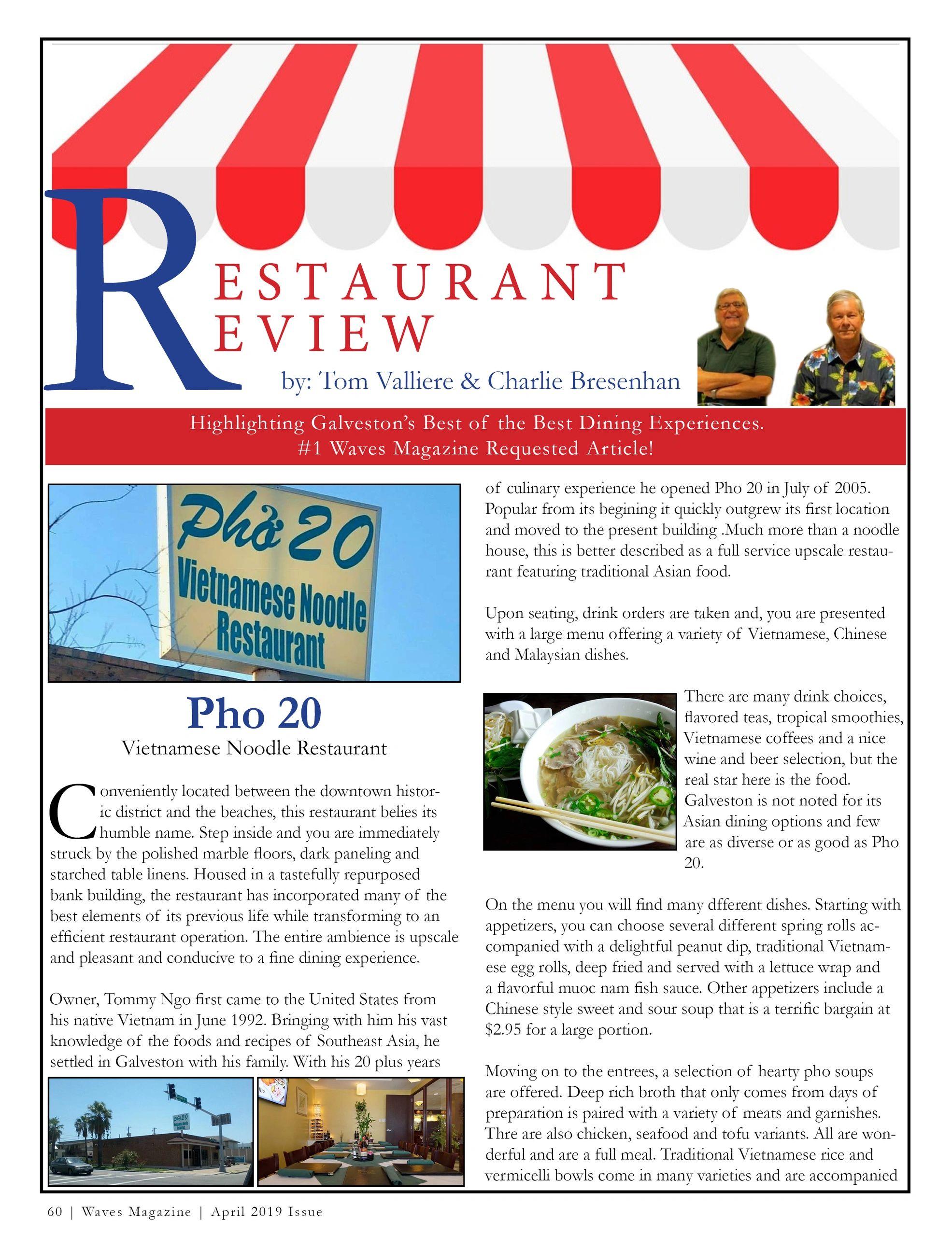 Pho 20   Vietnamese Noodle Restaurant Review