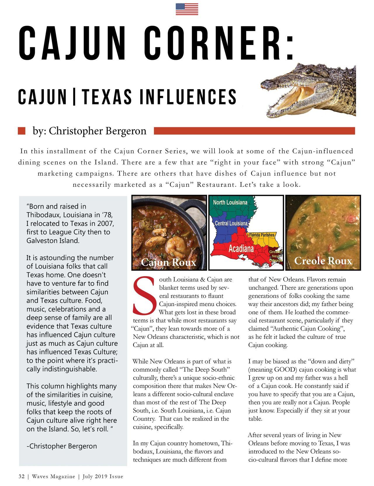 Cajun Corner | Local Cajun/Creole Dining Experiences
