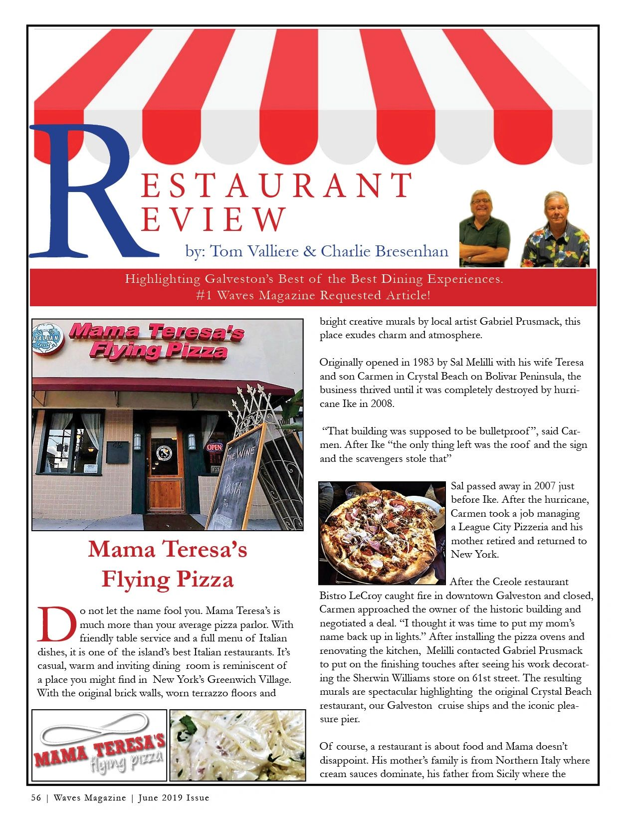 Restaurant Review   Mama Teresa's Flying Pizza