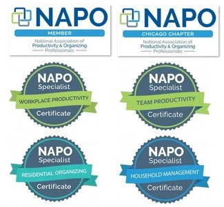 NAPO Workplace Productivity, Team Productivity, Residential Organizing, Household Management