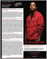 DJ DNA, Baltimore, Magazine, DJ WildChild DNA, Mixtape King, Real DJs Round Table Music Group, Rooftop Entertainment