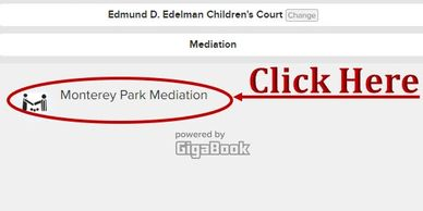 Click where the mediation location is shown.