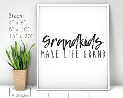 Grandparents gift idea. Instant download. Printable template. Farmhouse style decoration