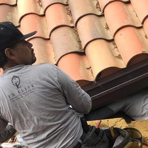 working on roof repairs