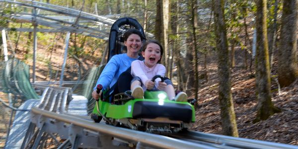 Family fun roller coaster in Helen GA