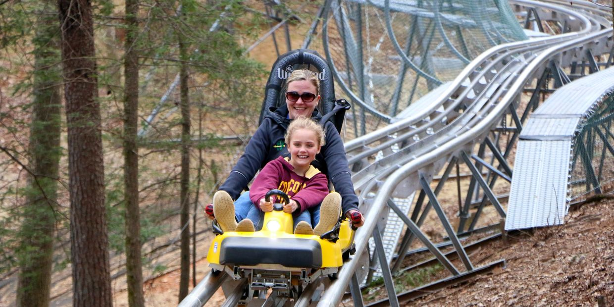 Alpine coaster ride in Helen GA