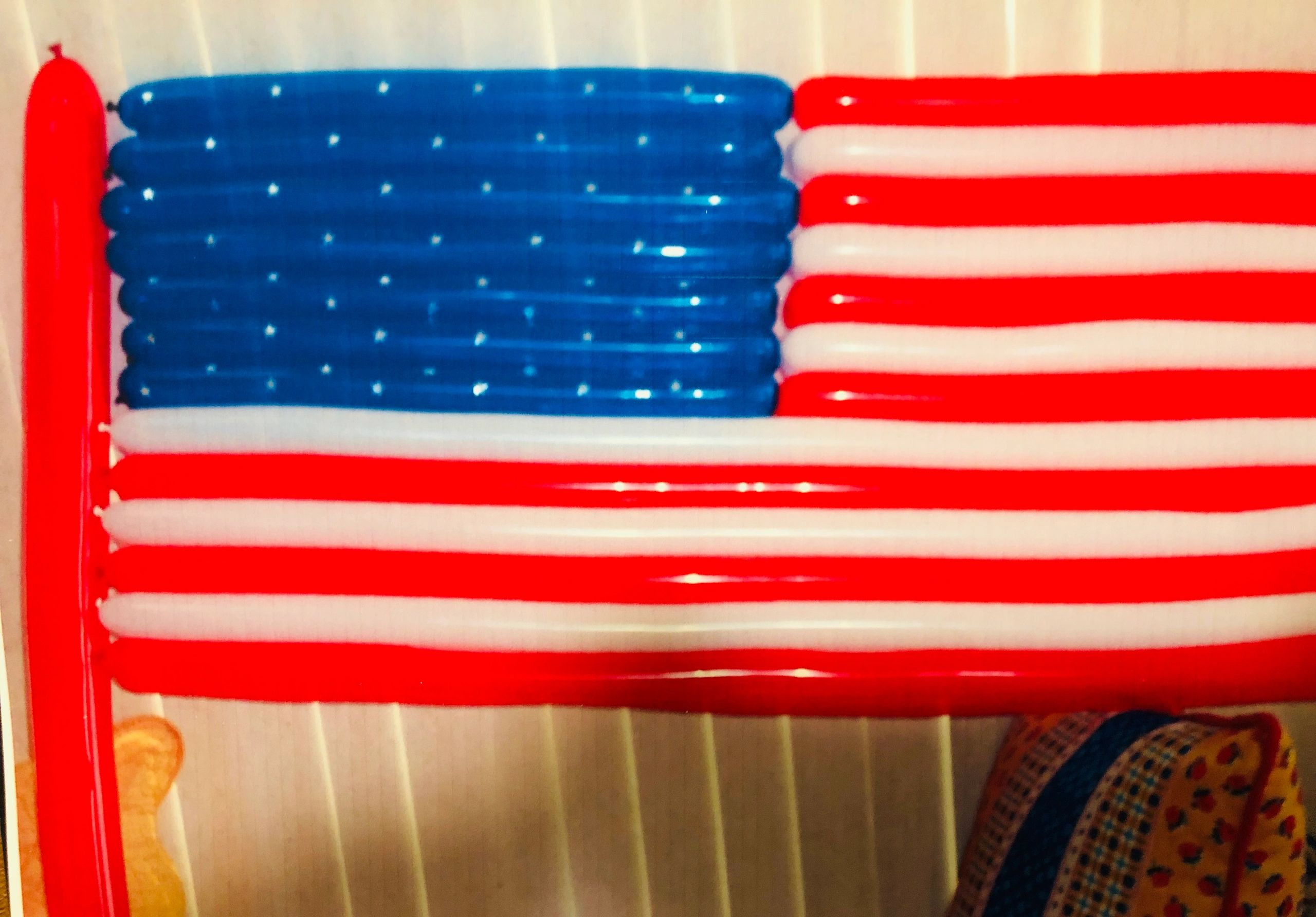 American Flag made out of 360Q Balloons by America's Real Entertaining Friend (AREF).