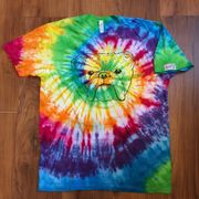 hand tie dyed Bulldog Tattoo Shop tshirt