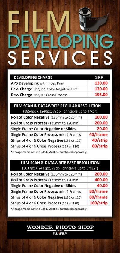 Film Developing Services Available At The Following Branches