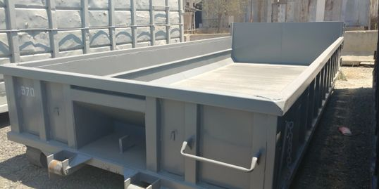Truck bed in our dumpster services in Riverside County, CA.